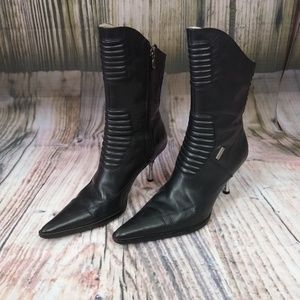Harley Davidson Leather Heeled Pointed Boots 6.5